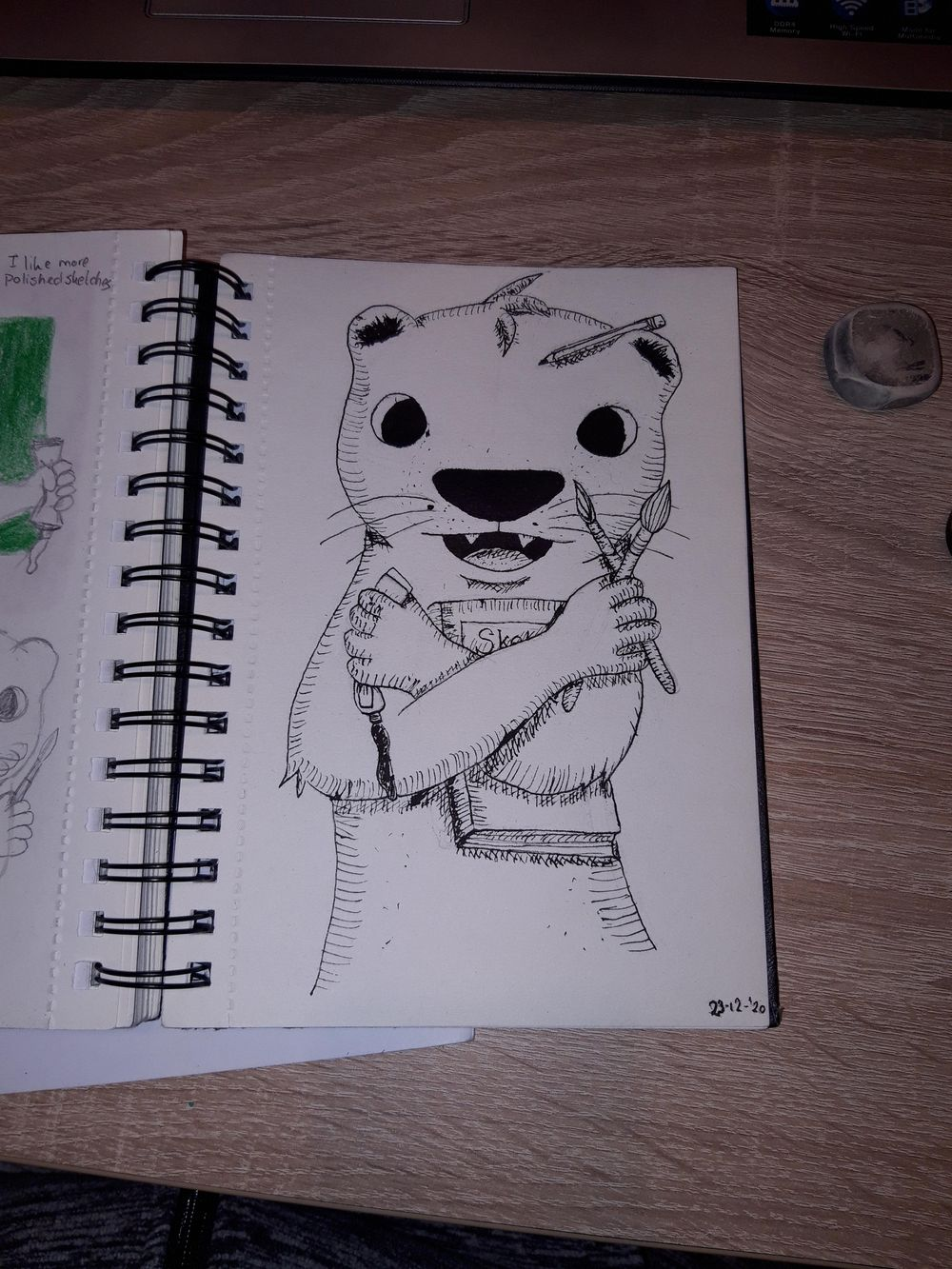 Inked creative otter - image 1 - student project
