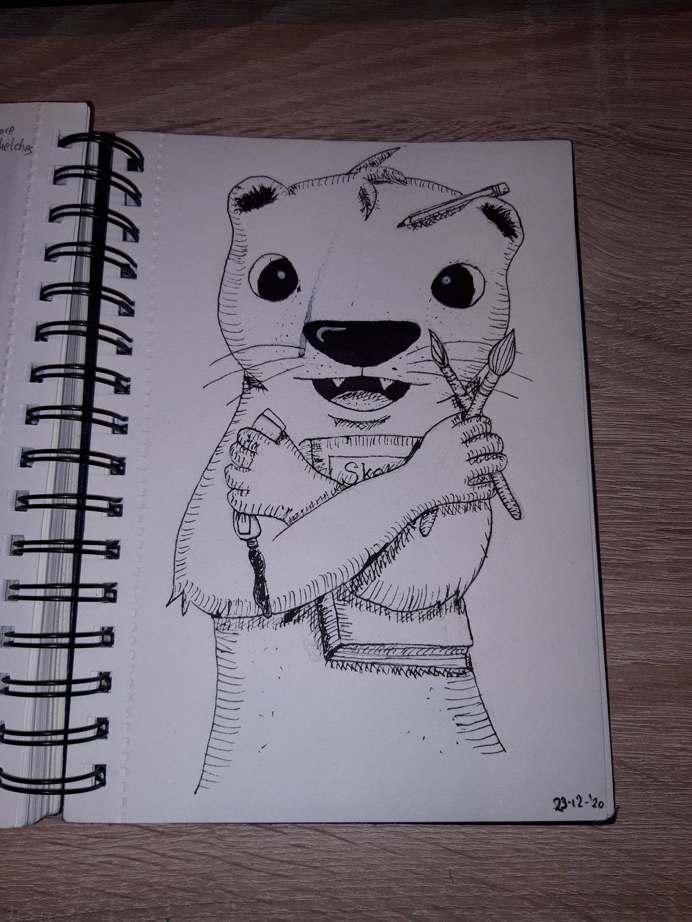 Inked creative otter - image 2 - student project