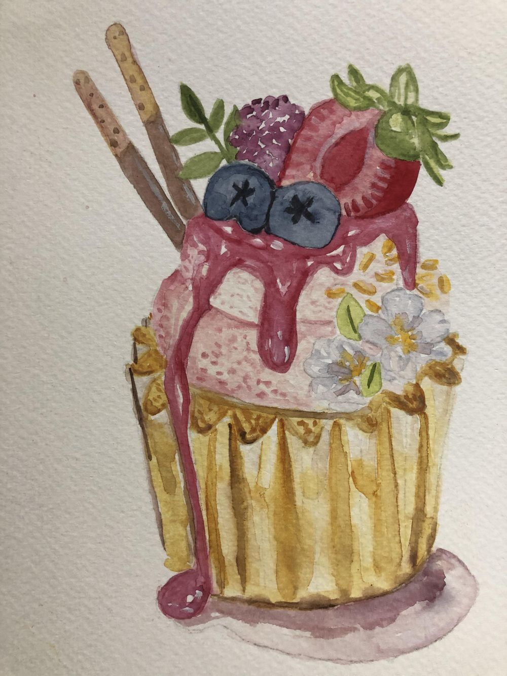 Strawberry cupcake - image 1 - student project
