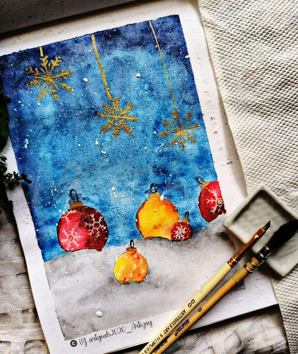Christmas themed paintings - image 3 - student project