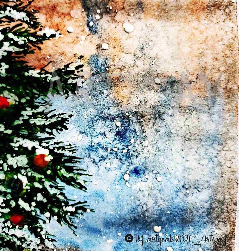 Christmas themed paintings - image 2 - student project