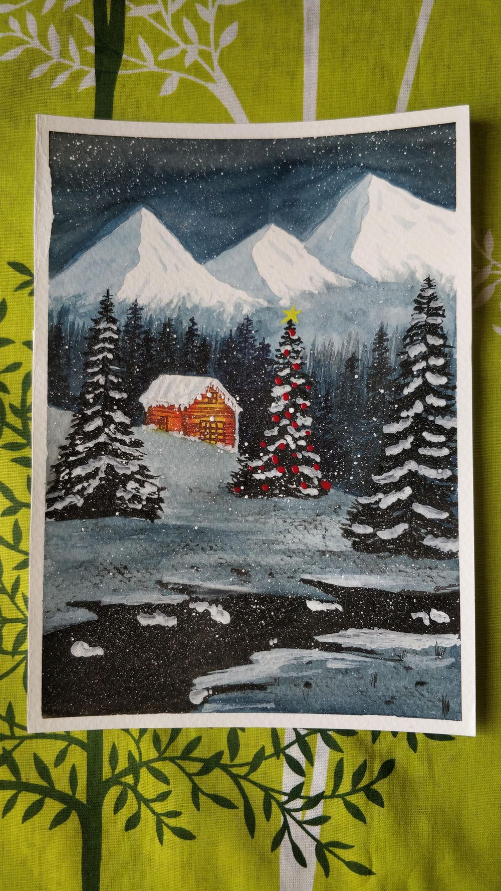 Snowy winter landscape - image 1 - student project
