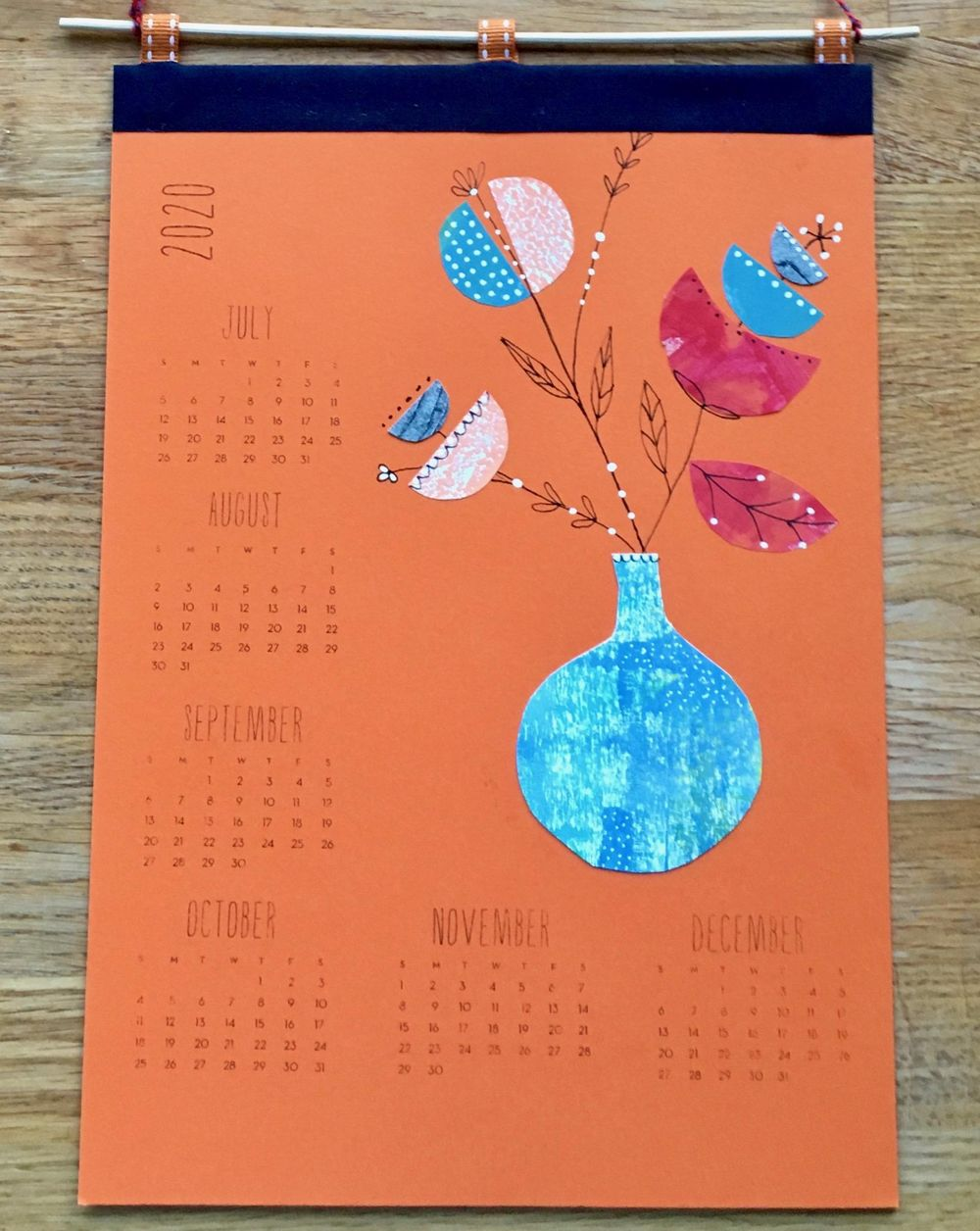 2020 calendar - another lovely, fun project from Lucie - image 1 - student project