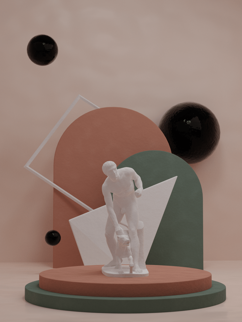 Minimal Geometric Scene - image 1 - student project