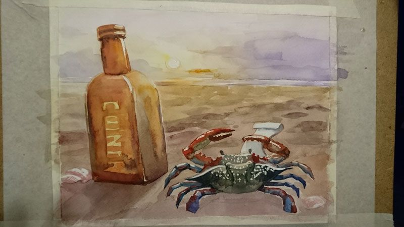 Lonely, dreaming crab - image 2 - student project
