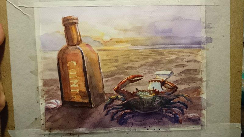 Lonely, dreaming crab - image 3 - student project
