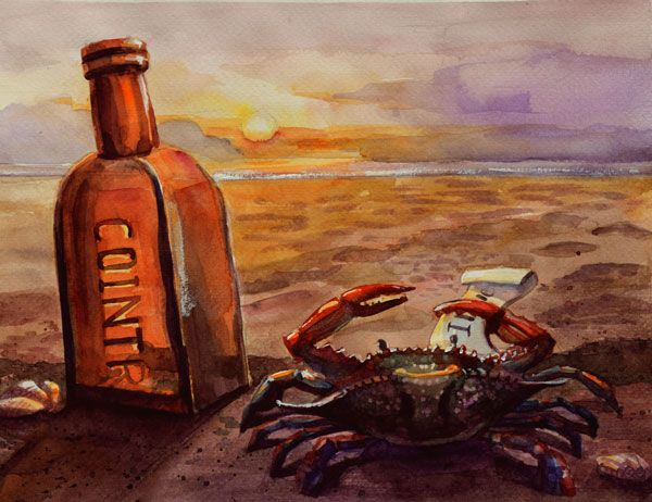 Lonely, dreaming crab - image 4 - student project