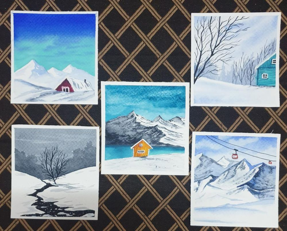 Snow Miniatures - image 1 - student project