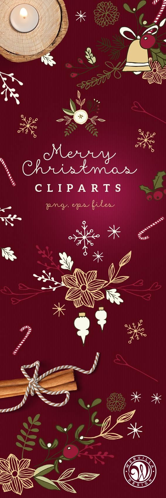 Christmas Cliparts tall pin - image 1 - student project