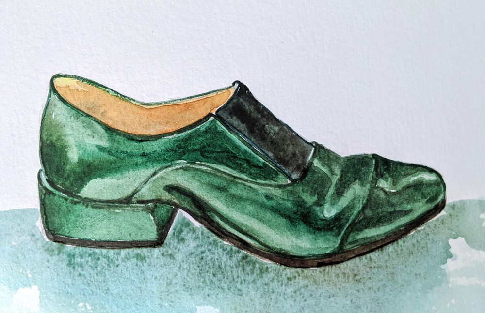 Bottle Green Shoe - image 1 - student project
