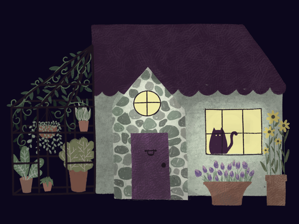 Playing with textures: greenhouse at night - image 2 - student project