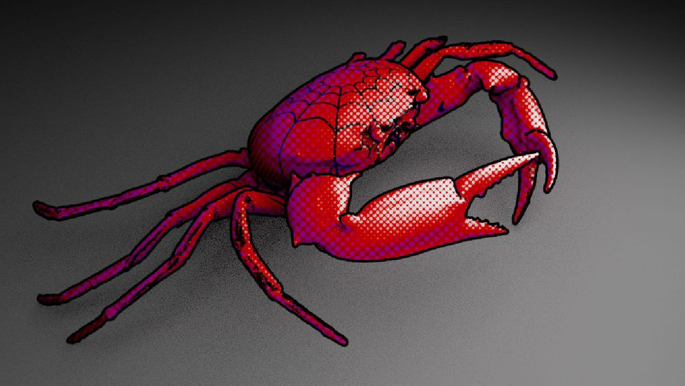 Spider-crab! Halftone Shader - image 2 - student project