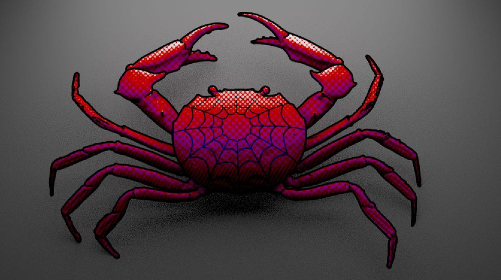 Spider-crab! Halftone Shader - image 1 - student project