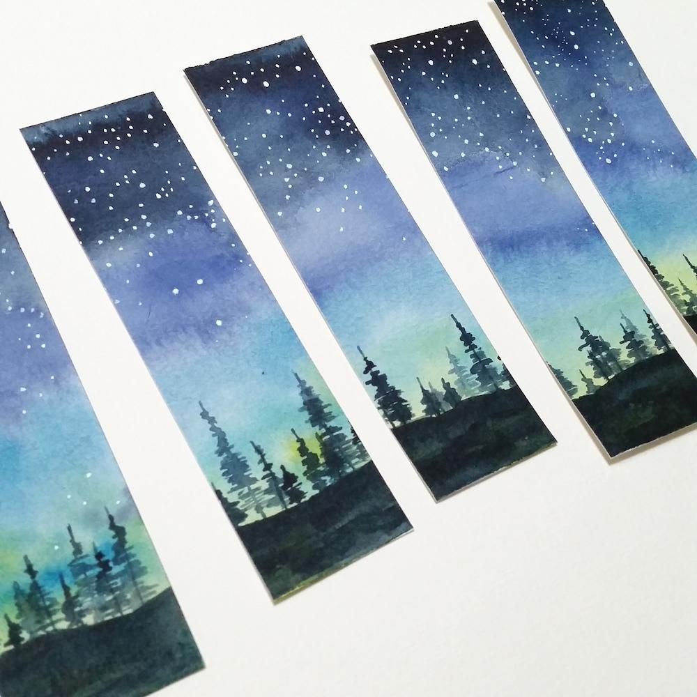 Starry Night Sky bookmarks - image 1 - student project