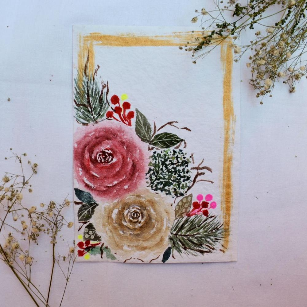 Modern holiday watercolor florals - image 1 - student project