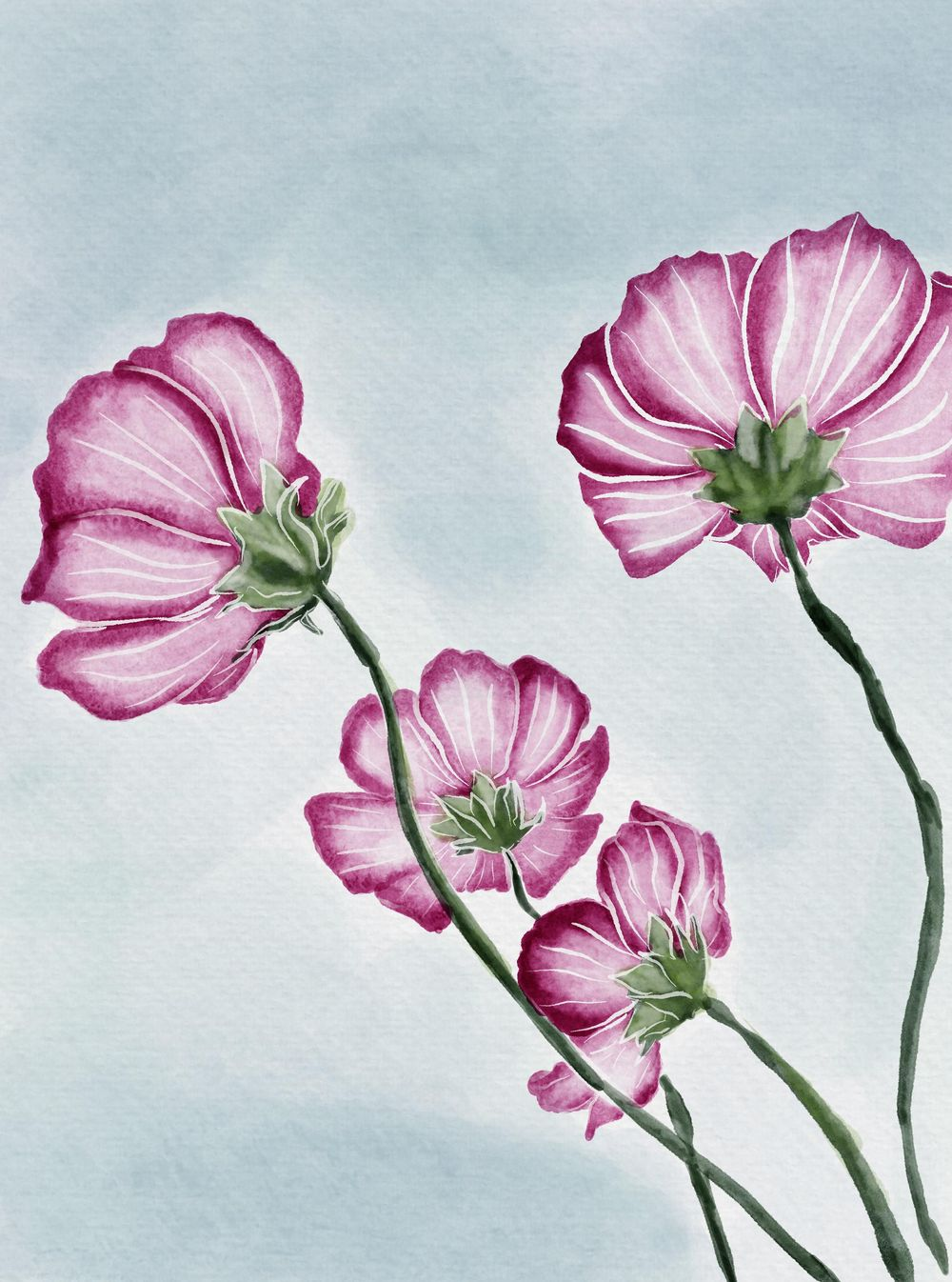 Flowers and watercolours - image 2 - student project