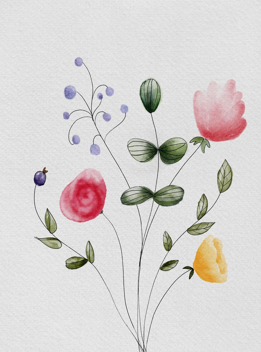 Flowers and watercolours - image 1 - student project