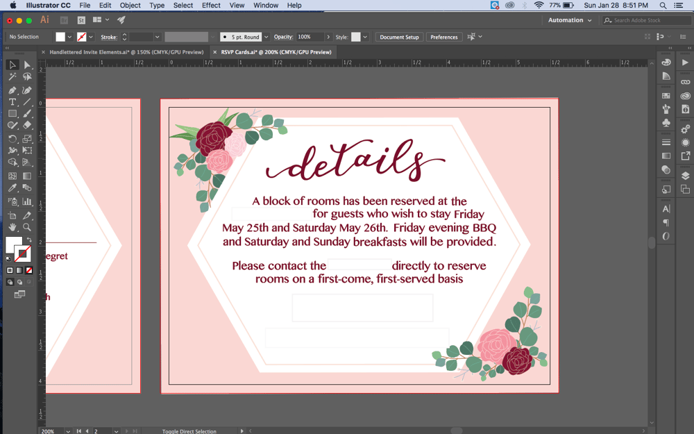 May Wedding Invites - image 17 - student project
