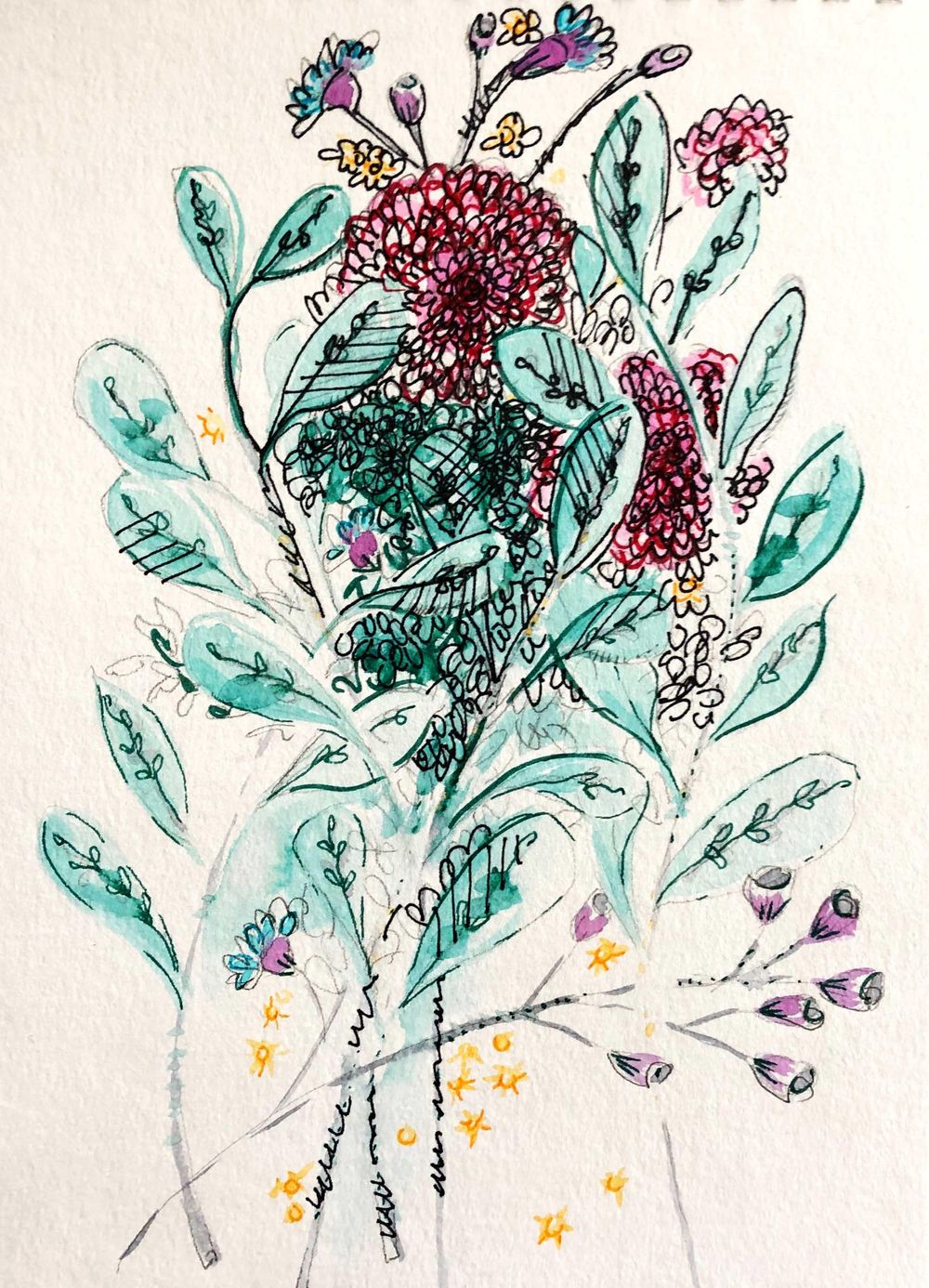 Making my own expressive florals - image 3 - student project
