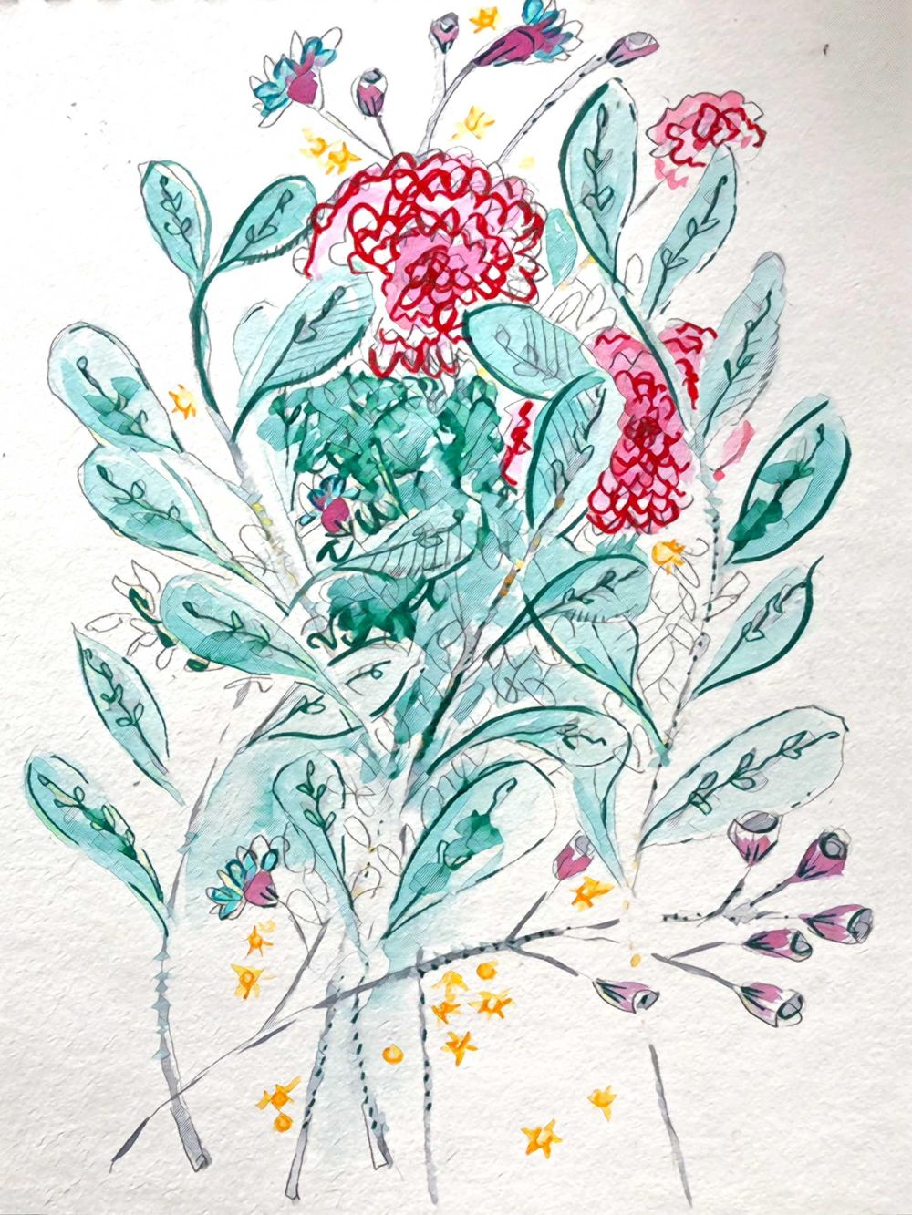 Making my own expressive florals - image 2 - student project