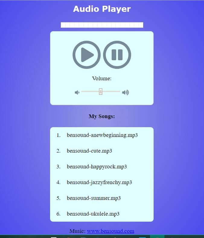 Audio Player App - image 1 - student project