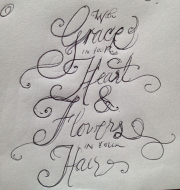 """""""With Grace in your Heart and Flowers in your Hair"""" - image 5 - student project"""