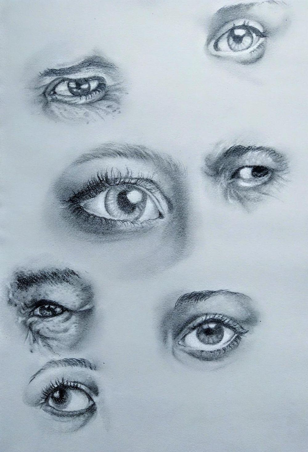 Pencil Portrait - practice - image 5 - student project