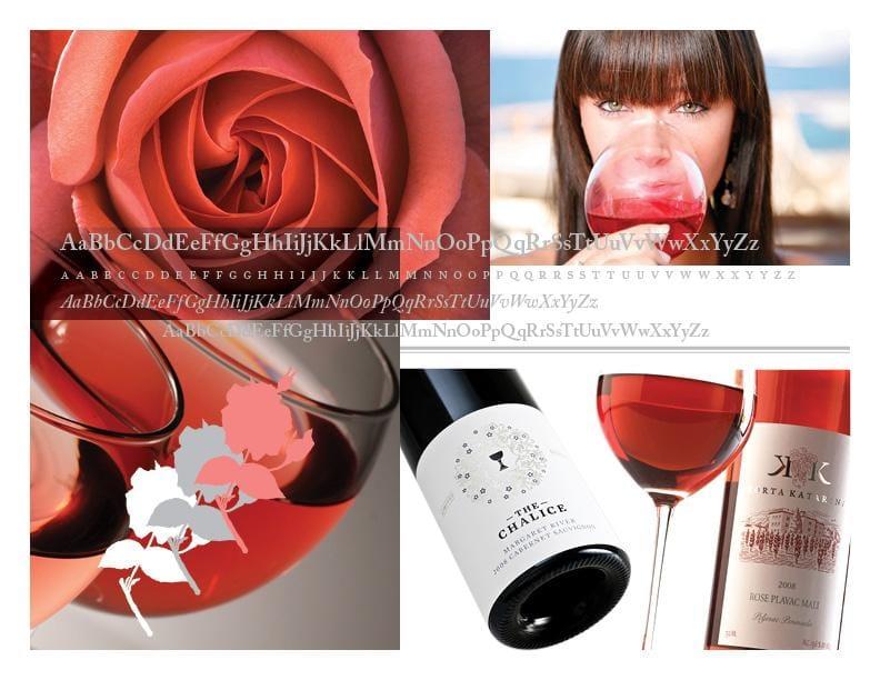 Mockingbird Rosé Wine Label - image 5 - student project