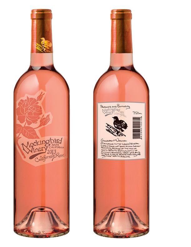 Mockingbird Rosé Wine Label - image 1 - student project