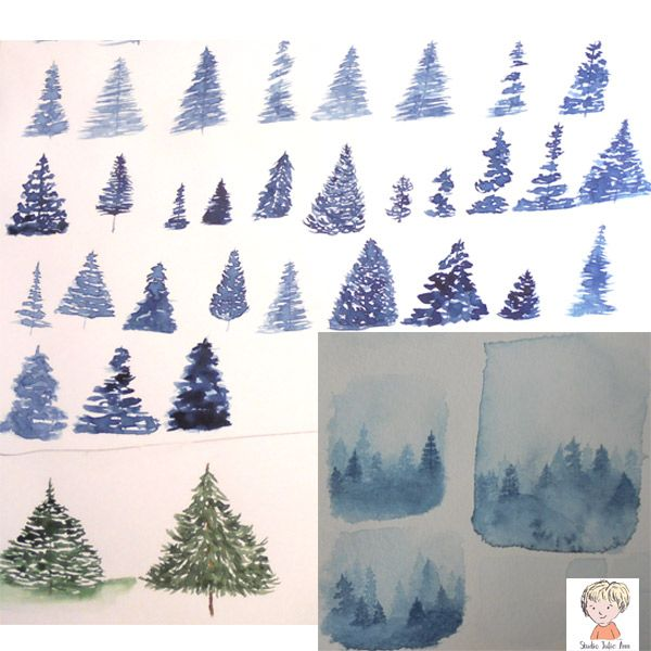 Misty Watercolor Forest Projects - image 1 - student project