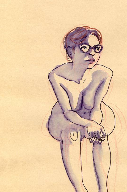 Life Drawing: Giulia and Water(color) - image 2 - student project