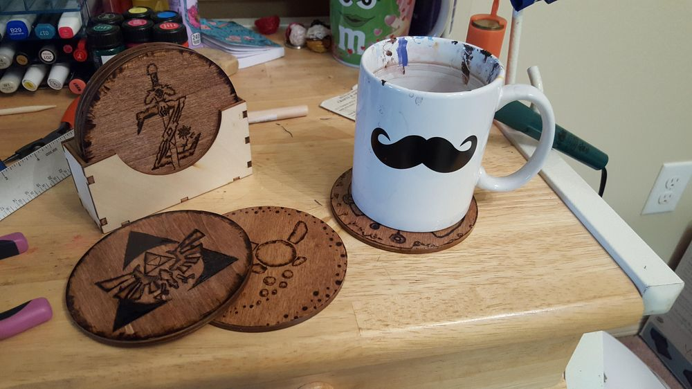 Finished Coasters - image 2 - student project