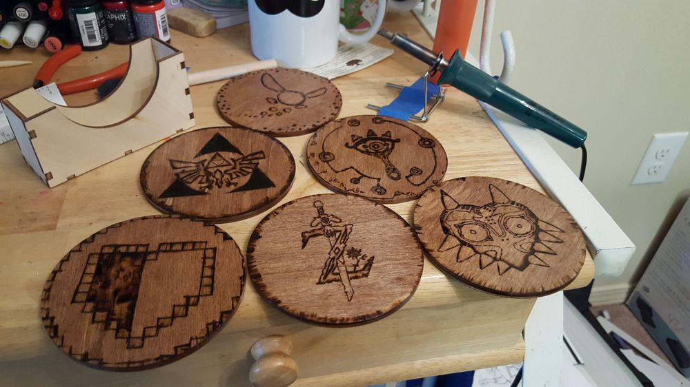 Finished Coasters - image 1 - student project