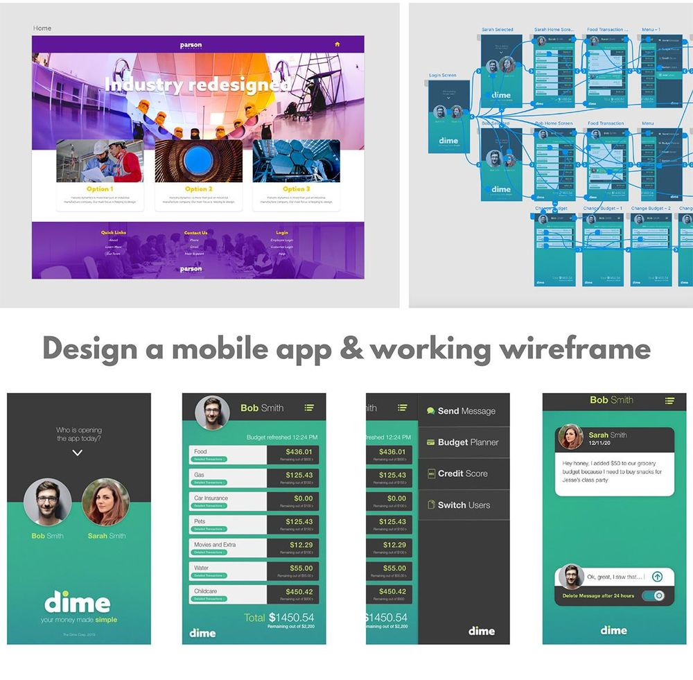 Mobile App Design and Wireframe - image 1 - student project