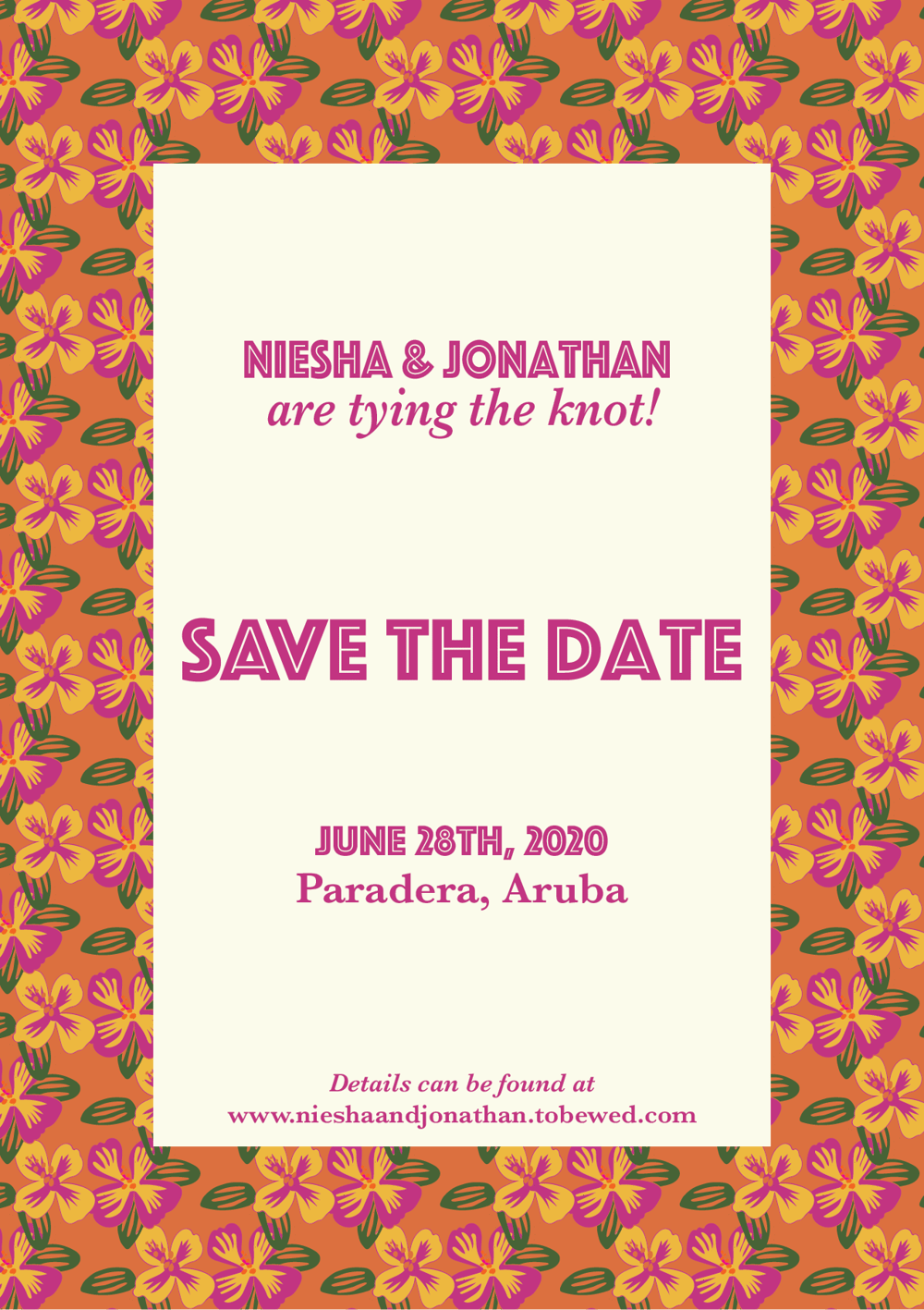 Gen's Project: Niesha & Jonathan's Save the Date - image 4 - student project