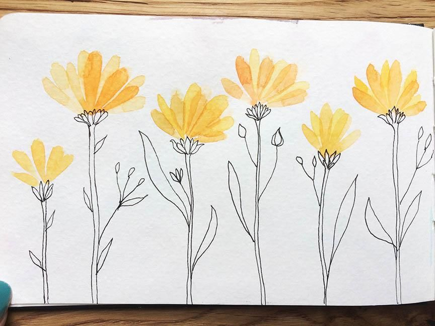 Fruit & veg ( surprise surprise) Butterflies and Yellow Floral - image 4 - student project