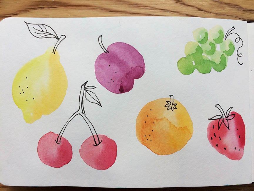 Fruit & veg ( surprise surprise) Butterflies and Yellow Floral - image 1 - student project