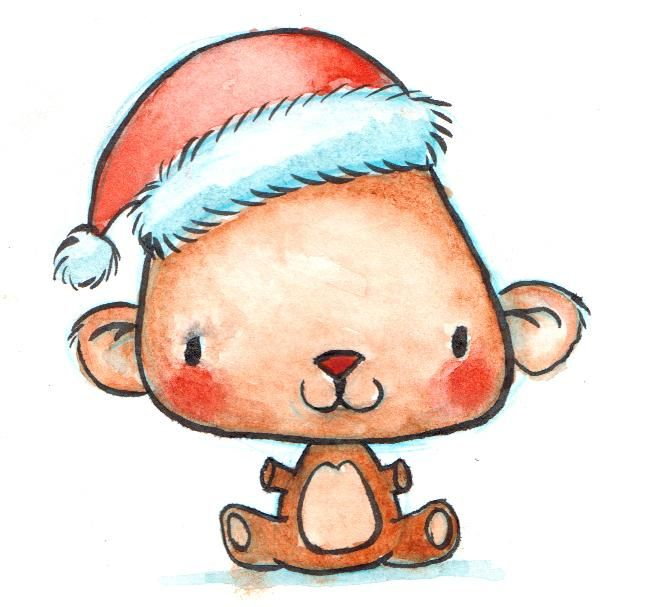 Watercolor Holiday Characters - image 2 - student project