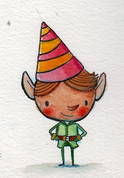 Watercolor Holiday Characters - image 4 - student project
