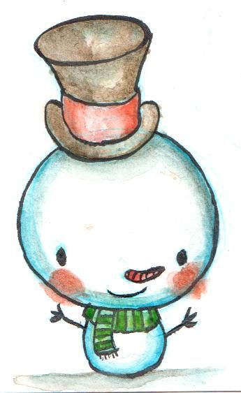 Watercolor Holiday Characters - image 1 - student project