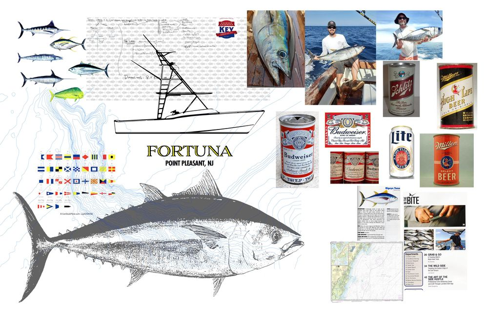 Big Eye Tuna Beers - Crew Day Lager Label (WIP) sketches - image 3 - student project
