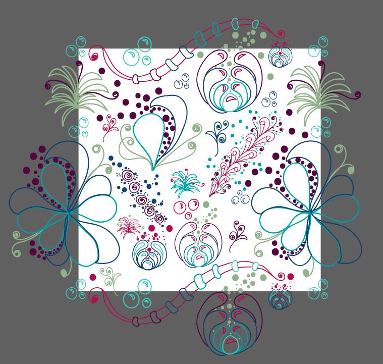 Aqua-Botanical Doodle  - image 3 - student project