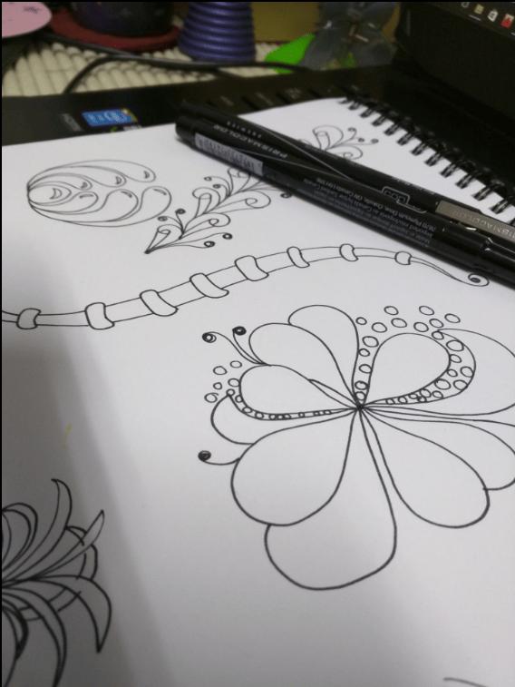 Aqua-Botanical Doodle  - image 1 - student project
