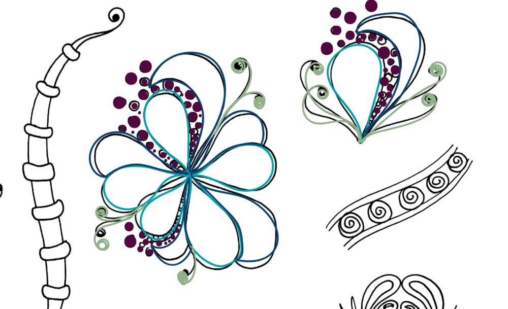 Aqua-Botanical Doodle  - image 2 - student project