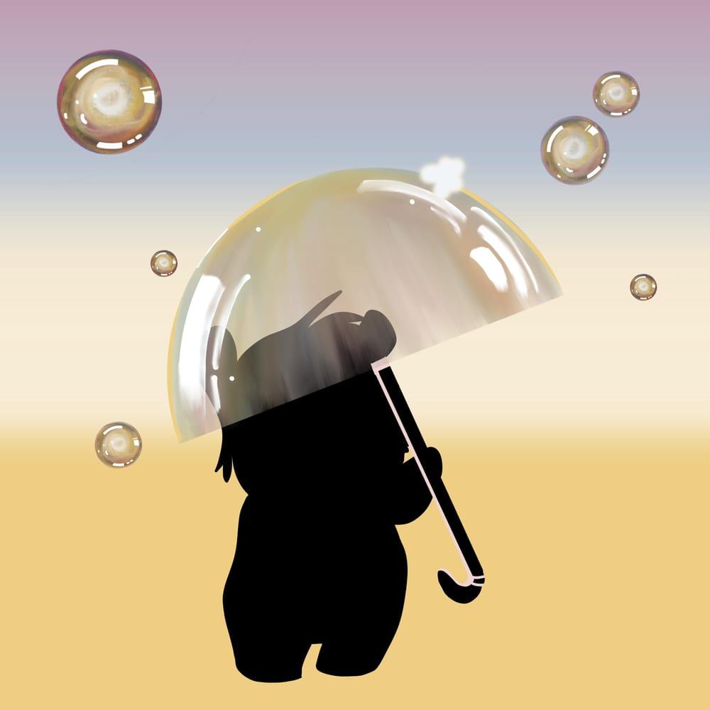 Bubbled umbrella - image 2 - student project