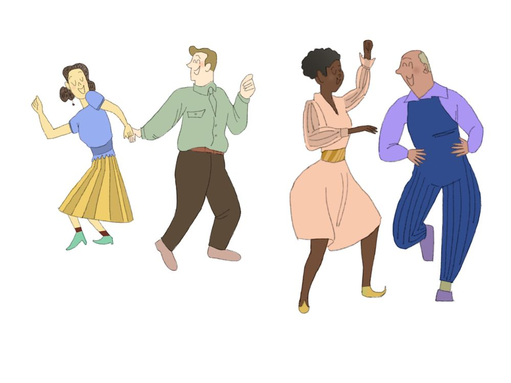 Swing dancing peeps - image 1 - student project