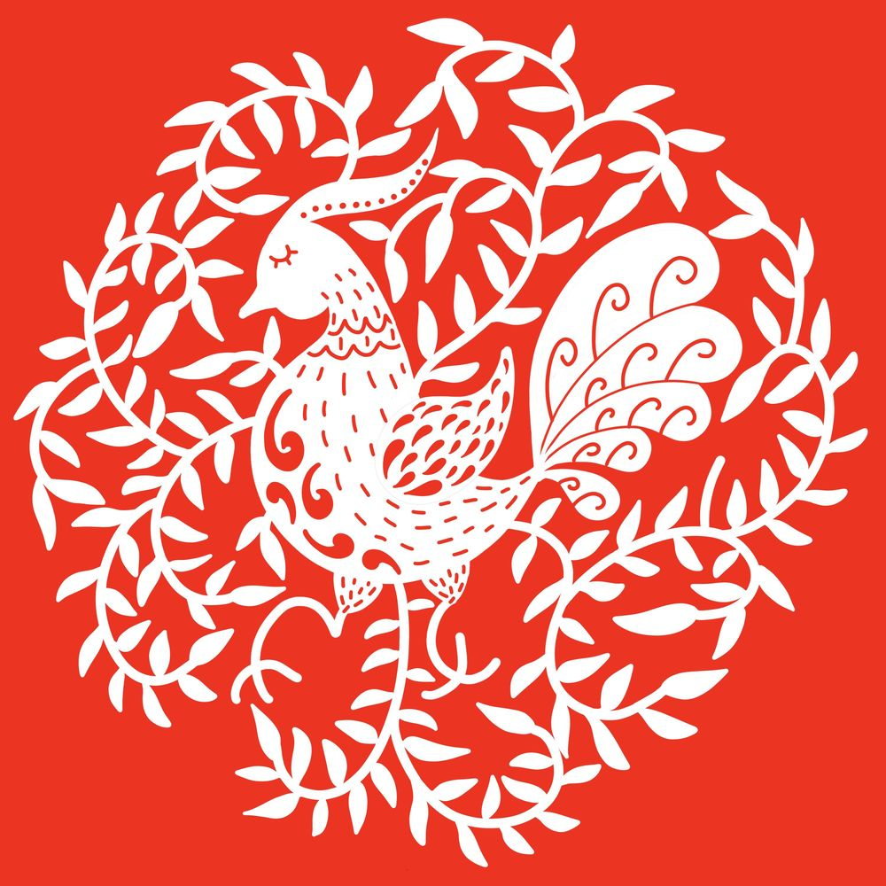 Folk art papercut - image 1 - student project