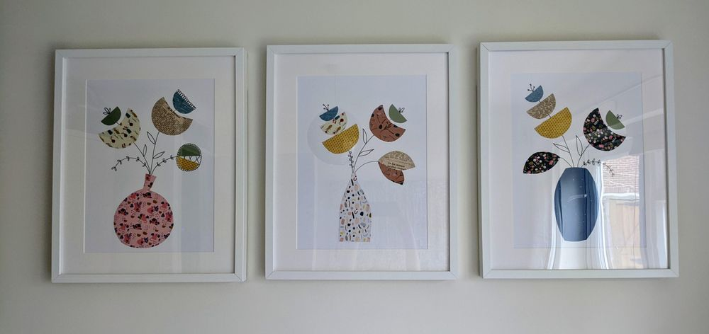 Framed flowers - image 1 - student project
