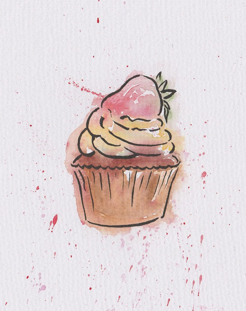 Watercolour sweets - image 3 - student project