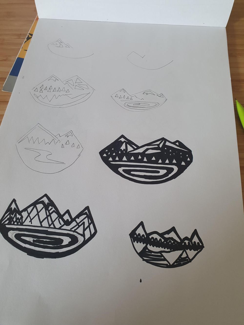 Mountain necklace design - image 2 - student project